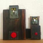 BUTTONS - ebony, iron, electronic circuits, buttons