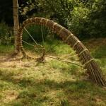 FRACTAL SPIRAL - willow, sea-grass, hemp string, steel