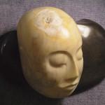 SLEEPING BUDDHA - Sienna marble