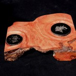 STEPPING STONES - olive wood, septaria stones