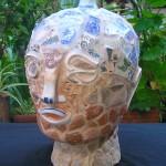 RECYCLED BUDDHA - mosaic (stone, terracotta, porcelain)
