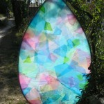 OPAL - plastic bags on wood frame